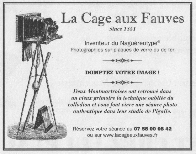 studio photo collodion la cage aux fauves paris
